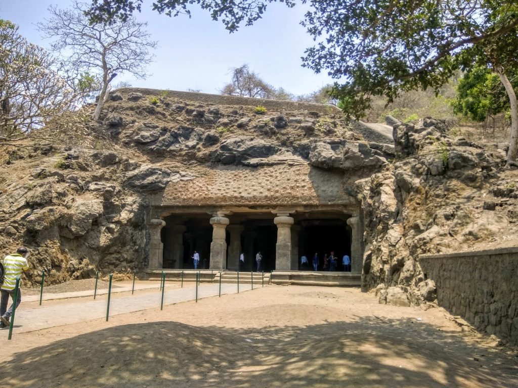 The Elephanta Caves on the Elephanta Island